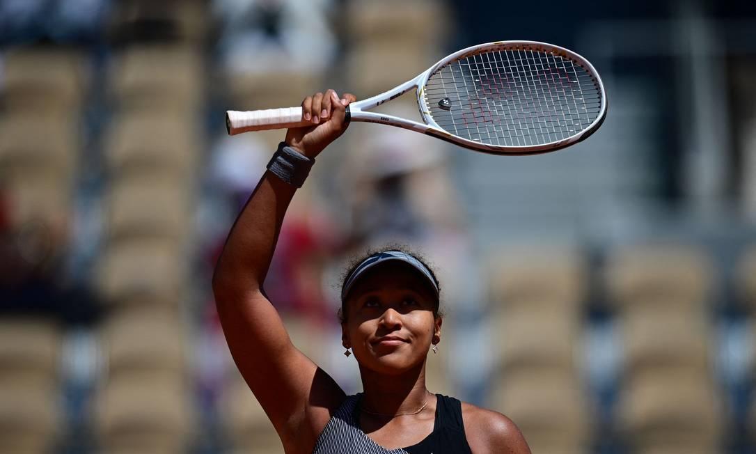 Naomi Osaka abandonou o torneio de Roland Garros após vitória na estreia Foto: MARTIN BUREAU / AFP
