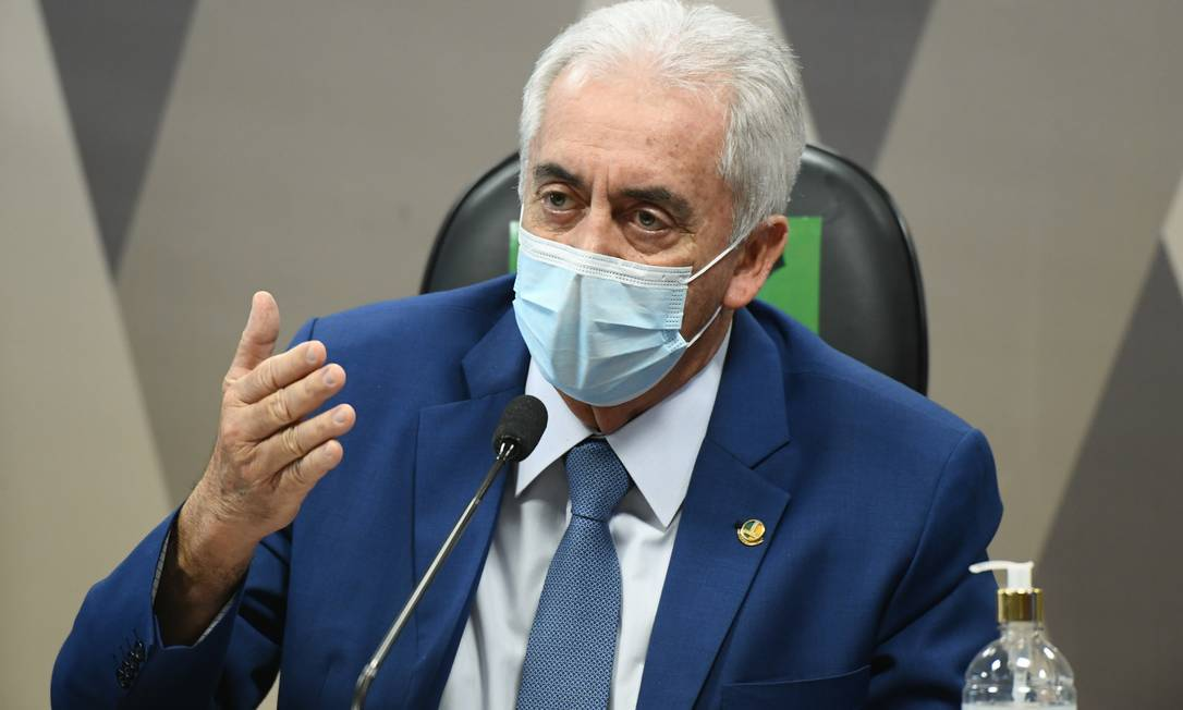Senador Otto Alencar na CPI da Covid Foto: Jefferson Rudy / Agência O Globo