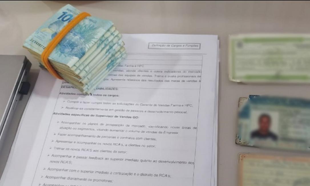 Material apreendido pela Polícia Civil de Goiás Foto: Divulgação