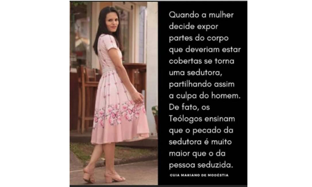 Post de colégio em Minas Gerais foi bastante criticado Foto: Instagram / Reprodução