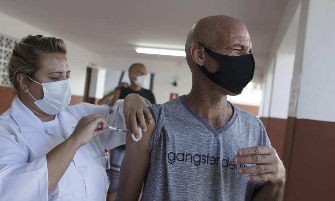 Vacinação no Rio de Janeiro Foto: Márcia Foletto / Agência O Globo