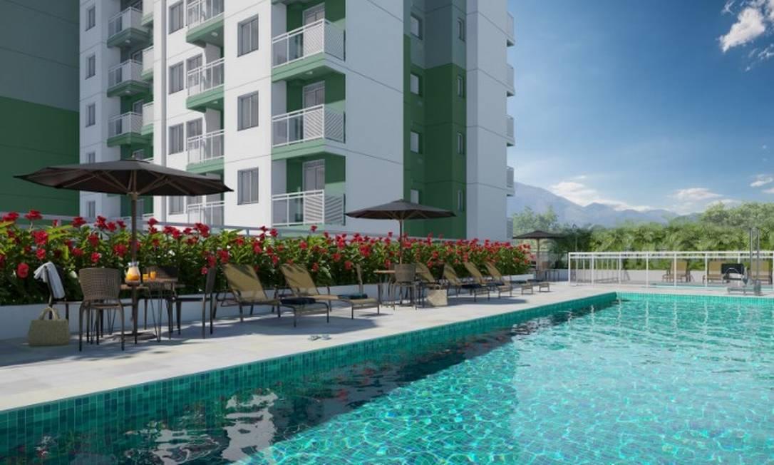 Simulação do primeiro empreendimento residencial da Zona Portuária do Rio Foto: Reprodução