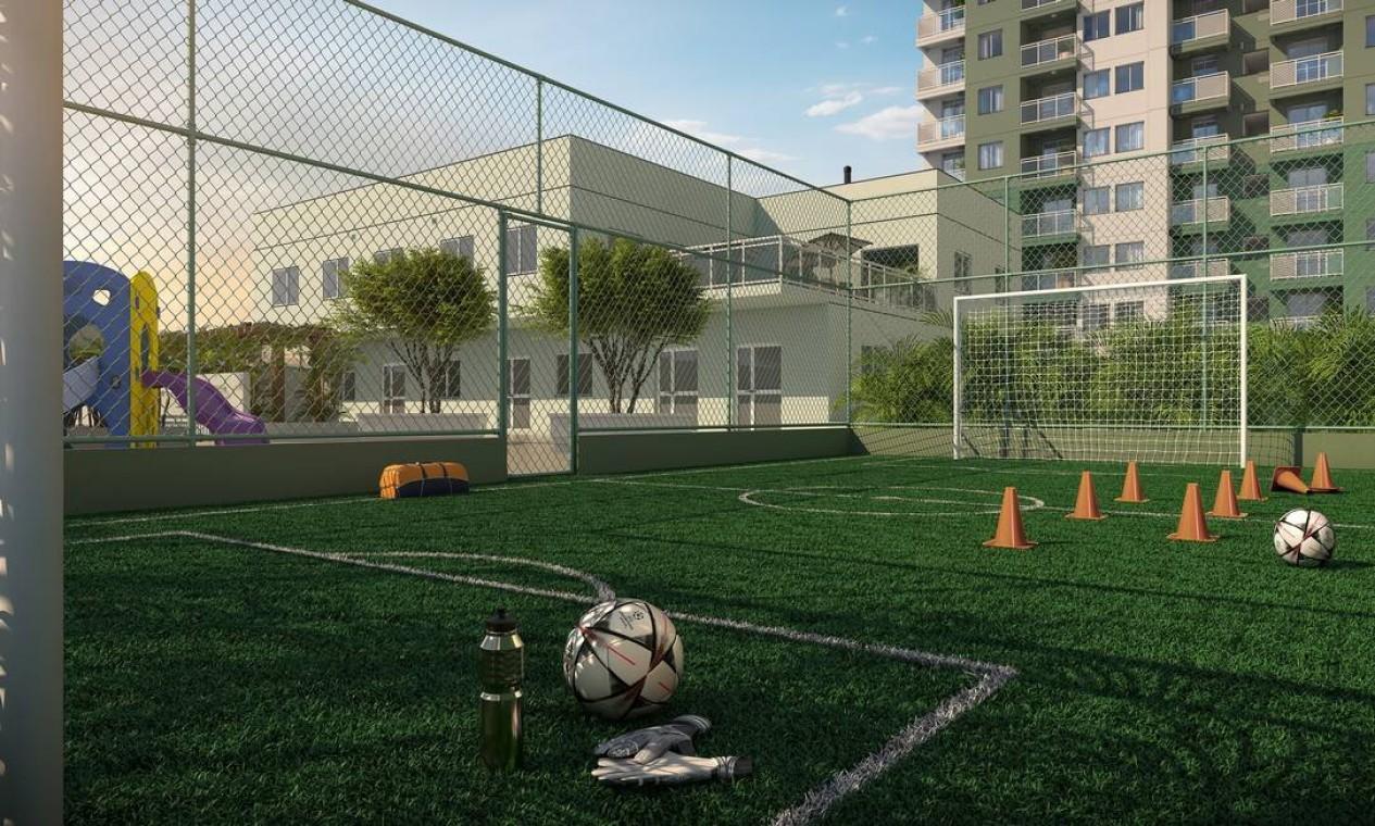 Quadra de futebol de grama sintética Foto: Divulgação / Agência O Globo