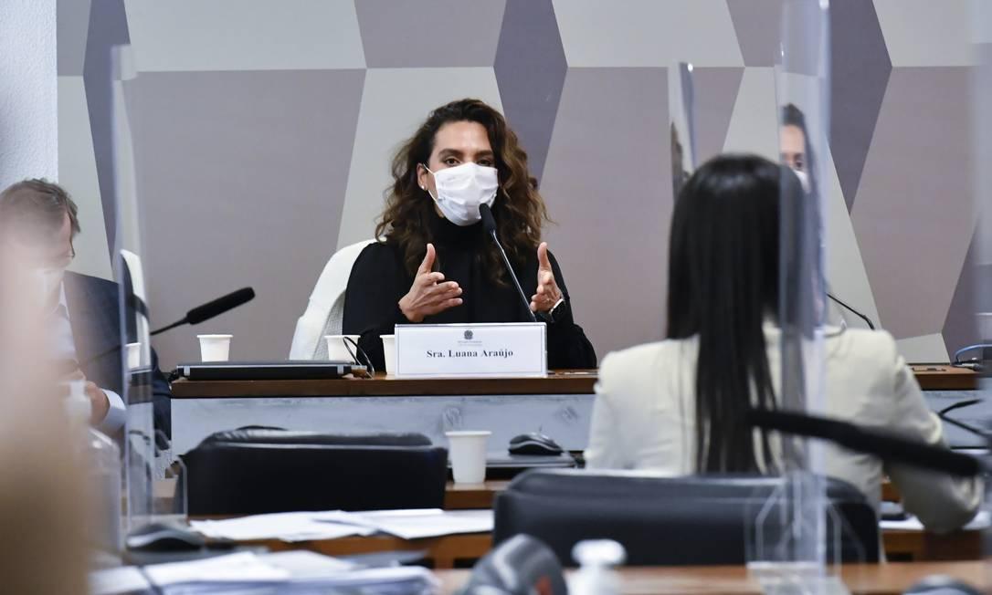 """Infectologista Luana Araújo, ex-secretária de enfrentamento ao coronavírus, chamou a discussão sobre o uso de medicamento sem eficácia para tratar o coronavírus de """"delirante"""": """"Essa é uma discussão delirante, esdrúxula, anacrônica e contraproducente"""" e reafirmou que """"o Brasil está na vanguarda da estupidez"""" Foto: Waldemir Barreto / Agência Senado"""