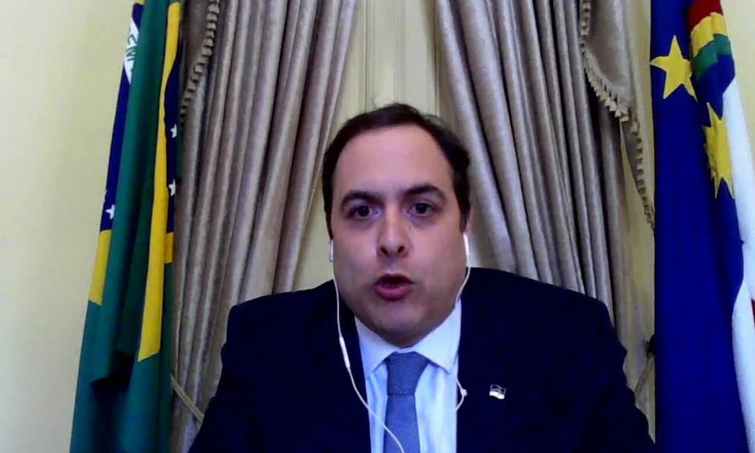 Paulo Câmara (PSB) falou pela primeira vez sobre violência da PM em protesto contra Bolsonaro no Recife Foto: Reprodução/TV Globo
