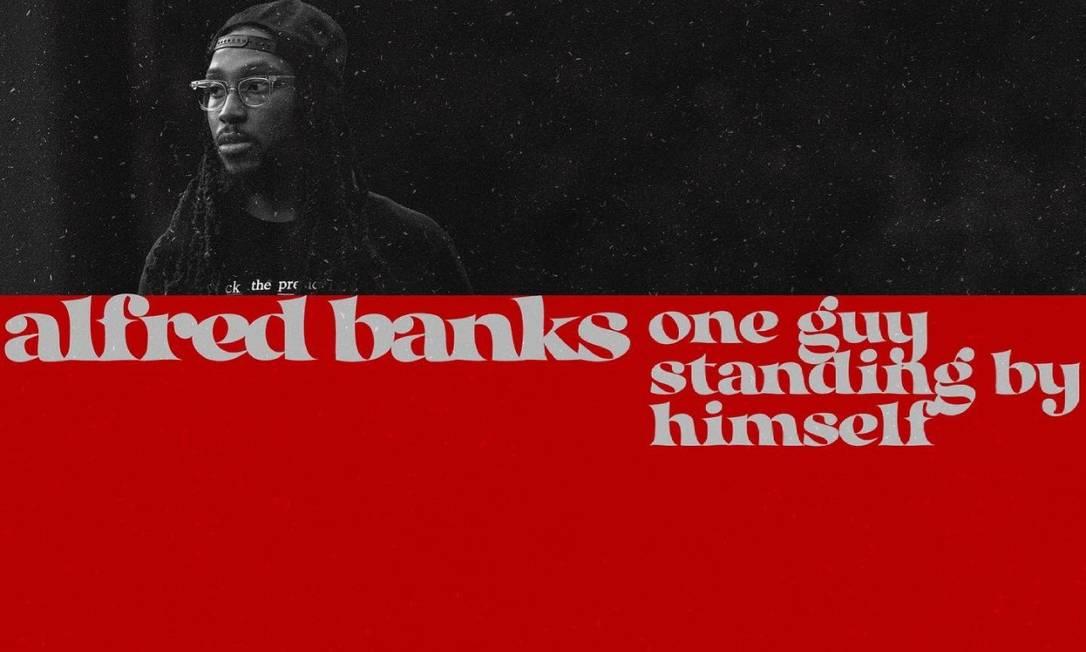 Rapper norte-americano, Alfred Banks, inspirou a capa de seu último álbum em 'Transa', de Caetano Veloso Foto: Reprodução Redes Sociais