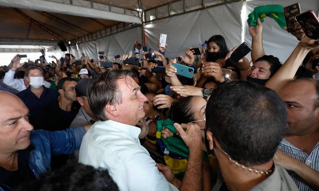 Bolsonaro durante viagem à Maceió (AL) em maio de 2020 Foto: Alan Santos / PR