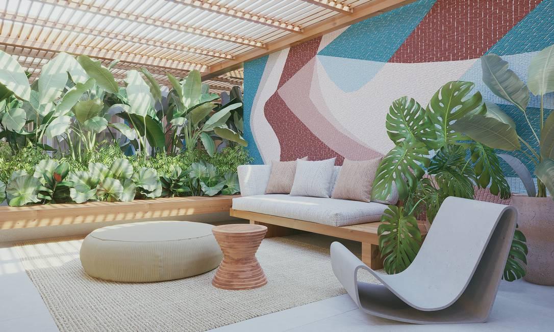 Diferencial. As áreas abertas têm jeito e estrutura de casa e segurança de apartamento Foto: Mozak/Divulgaçao