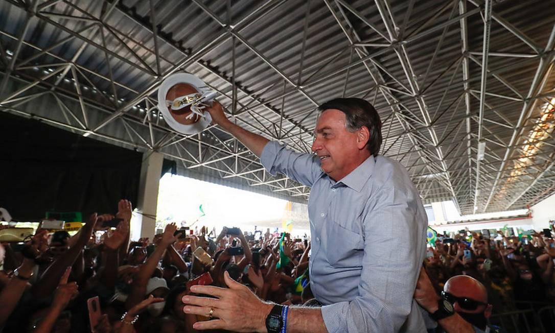 Bolsonaro durante inauguração de uma usina termoelétrica em Aracaju (SE), em agosto de 2020 Foto: Alan Santos/PR