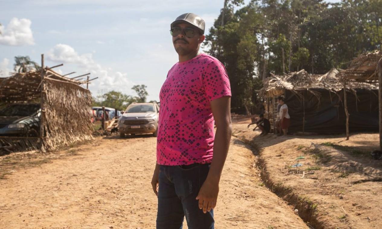Cristiano Dias, chefe do assentamento em Jacundá Foto: Brenno Carvalho / Agência O Globo