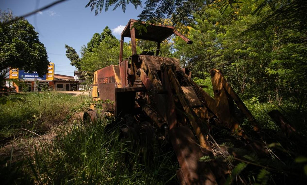 Em Humaitá, o poso do Ibama foi destruído por garimpeiros. Local está sem chefe de fiscalização, e a região é uma das principais portas de entrada de garimpeiros ilegais no Rio Madeira Foto: Brenno Carvalho / Agência O Globo