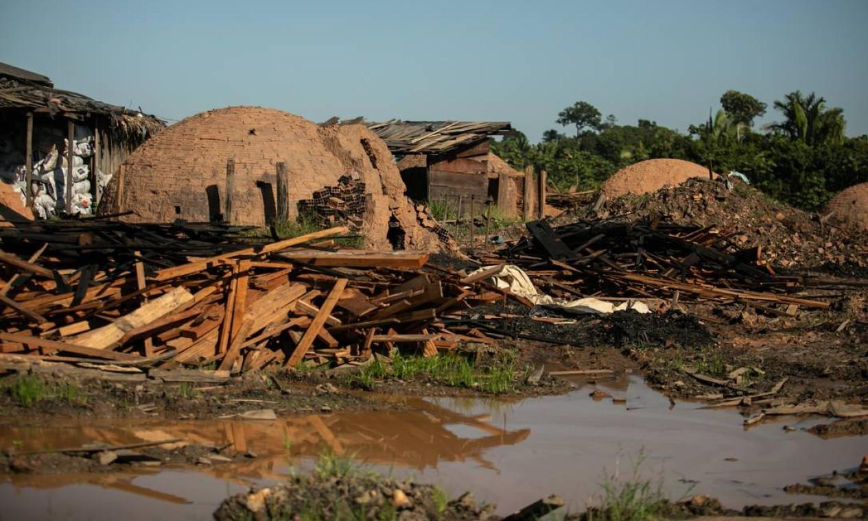 197 quilômetros quadrados de floresta em Humaitá foram derrubados entre 2019 e 2020 Foto: Brenno Carvalho / Agência O Globo