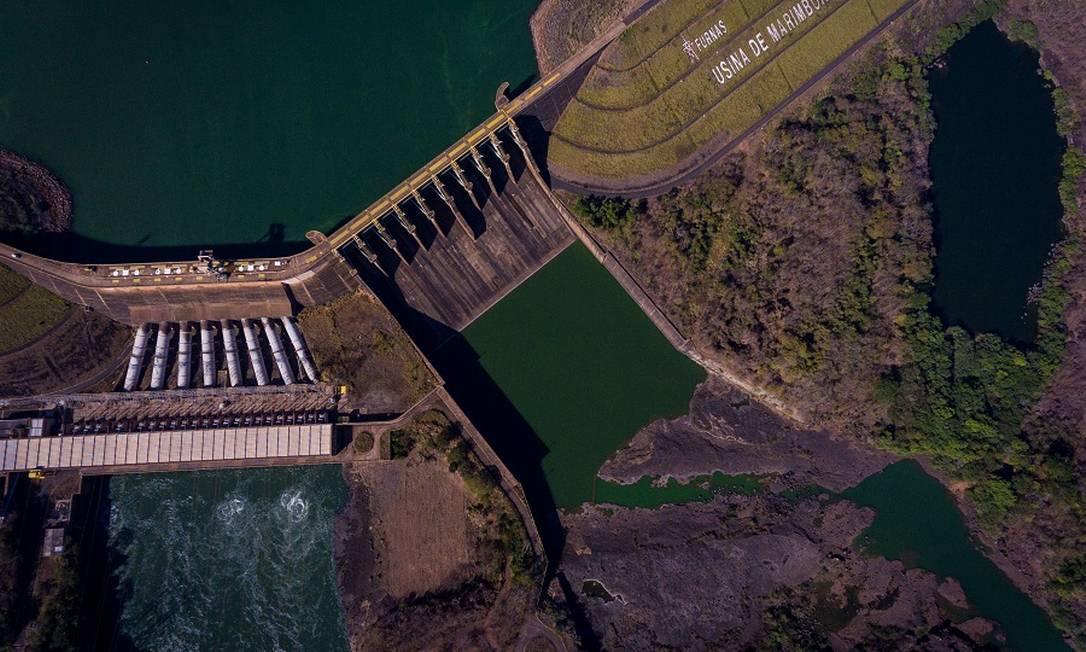 A usina Hidrelétrica de Marimbondo abaixo da capacidade por causa da estiagem Foto: Ferdinando Ramos / Agência O Globo