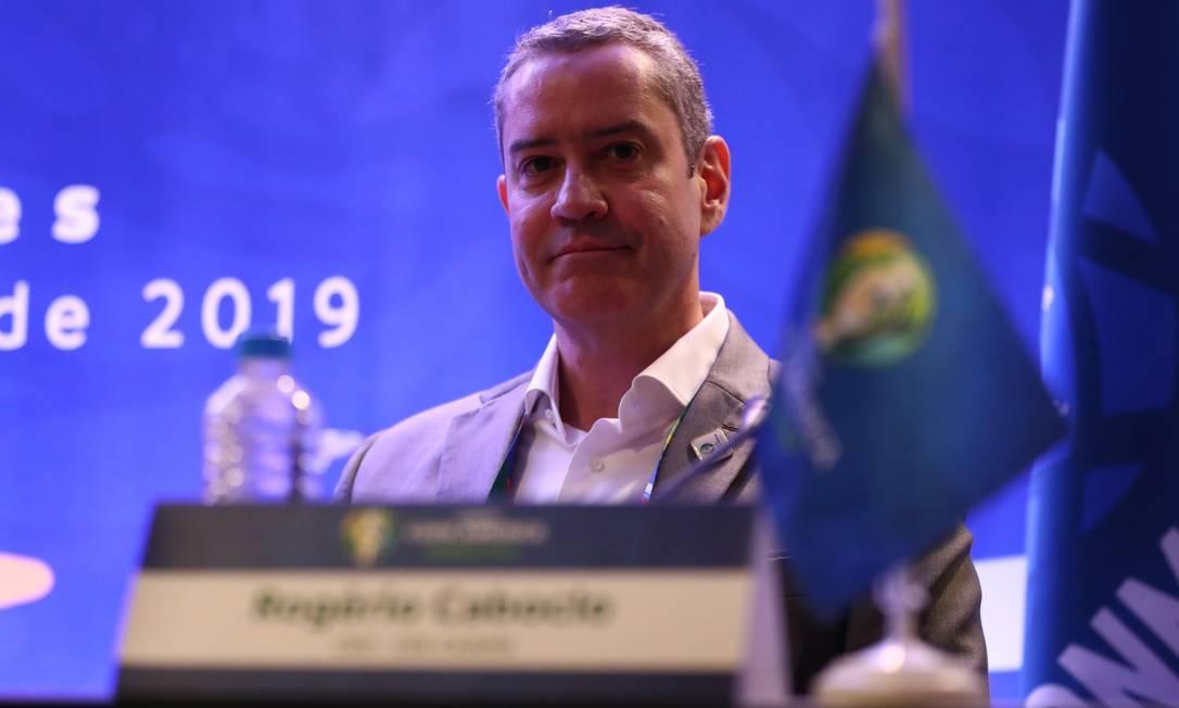 O presidente da CBF, Rogério Caboclo Foto: Lucas Figueiredo / CBF