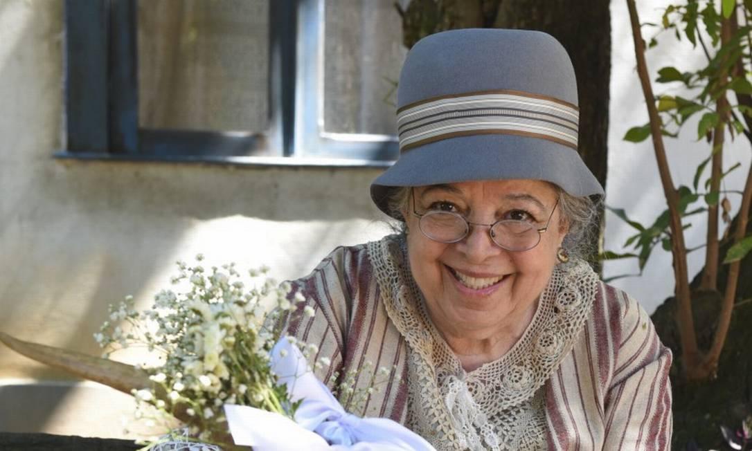 Camilla Amado interpretou a Tia Candoca na novela 'Éramos seis' Foto: Cesar Alves / Globo/Cesar Alves