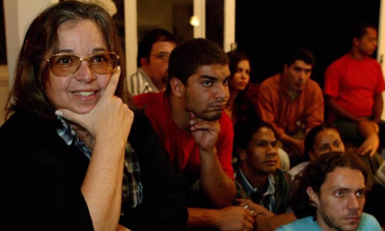 Comemorando 50 anos de aula de teatro em 2004 Foto: Gustavo Stephan / Agência O Globo