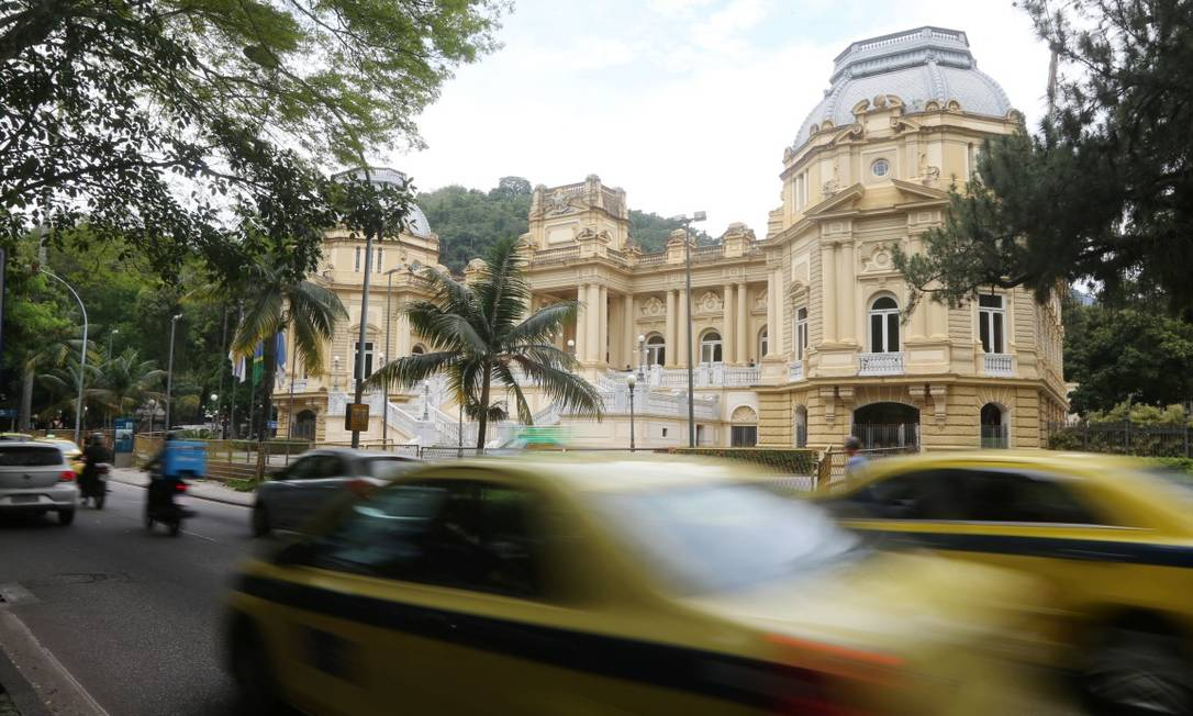 Palácio Guanabara: governo do Rio celebrou, na sexta-feira, acordo com novo Regime de Recuperação Fiscal Foto: Fabiano Rocha em 30-11-2018 / Agência O Globo