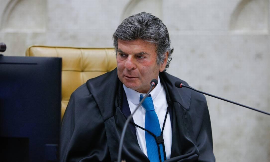 Ministro Luiz Fux, presidente do STF Foto: Fellipe Sampaio/Divulgação