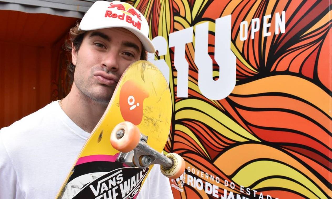 O skatista catarinense Pedro Barros foi campeão mundial de 2018 na categoria park e finalista do torneio em 2019 Foto: Cristina Lacerda