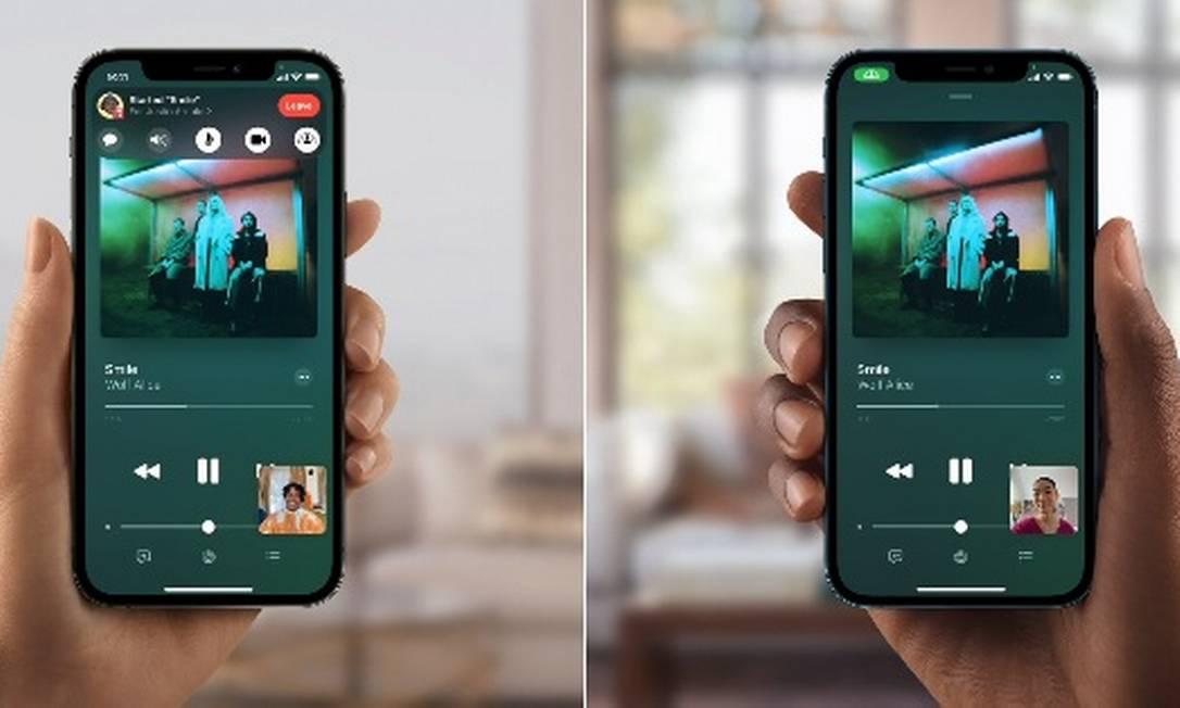 Apple vai permitir compartilhar músicas e conteúdo de streaming via Facetime Foto: Divulgação