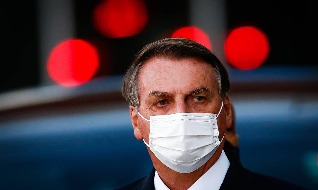 O presidente Jair Bolsonaro, após evento no Ministério da Saúde Foto: Pablo Jacob/Agência O Globo/01-06-2021