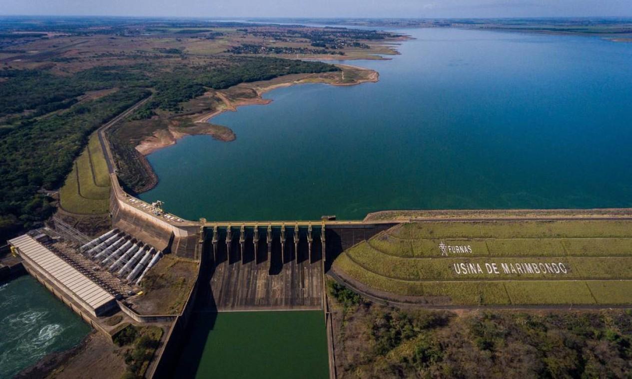 Localizada na divisa de São Paulo e Minas Gerais, a hidrelétrica tem capacidade para produzir 1.440 megawatts Foto: Ferdinando Ramos / Agência O Globo