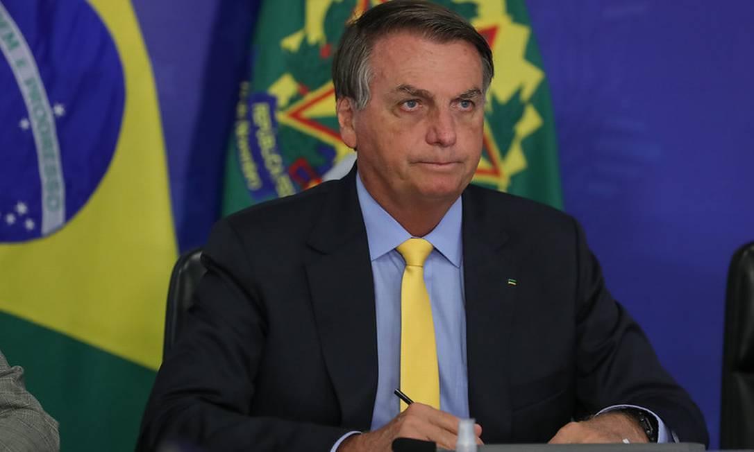 O presidente Jair Bolsonaro Foto: Marcos Correa / Divulgaçao