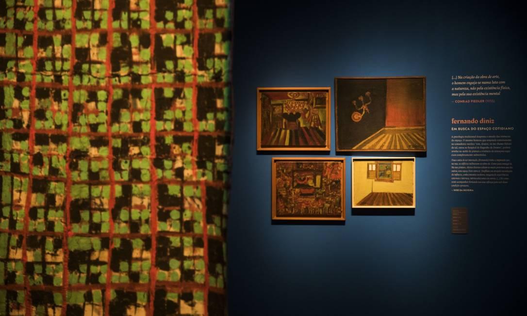 Exposição sobre a vida e o trabalho de Nilse Silveira no Centro Cultural do Banco do Brasil: na foto, obras de Fernando Diniz Foto: Guito Moreto / Agência O Globo