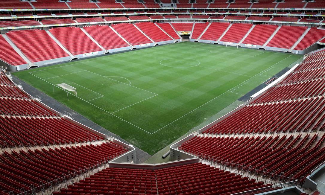 Estádio Mané Garrincha, em Brasília, será um dos palcos da Copa América Foto: SERGIO LIMA / AFP