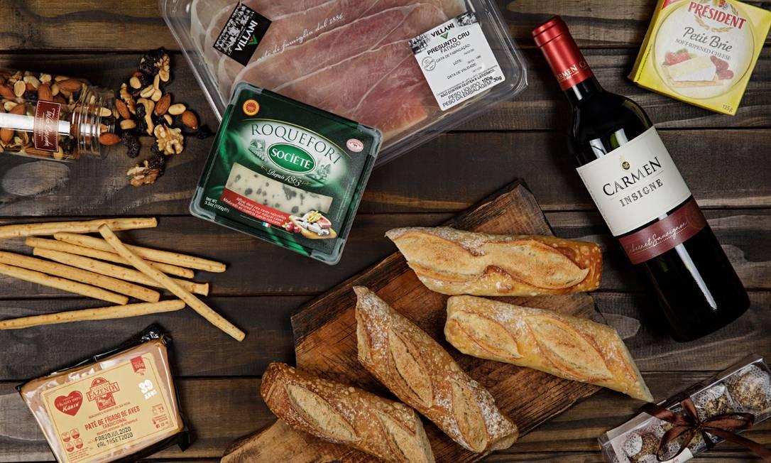 Itens da cesta Degustação Casal do Talho Capixaba: para presentear Foto: Divulgação/Rodrigo Azevedo
