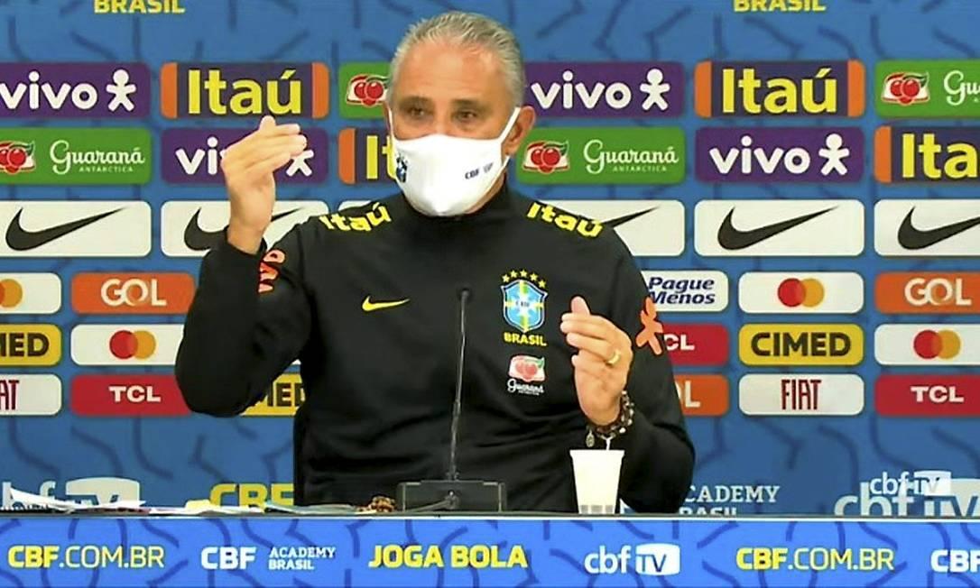 Tite anuncia lista da seleção brasileira Foto: Reprodução / CBF TV
