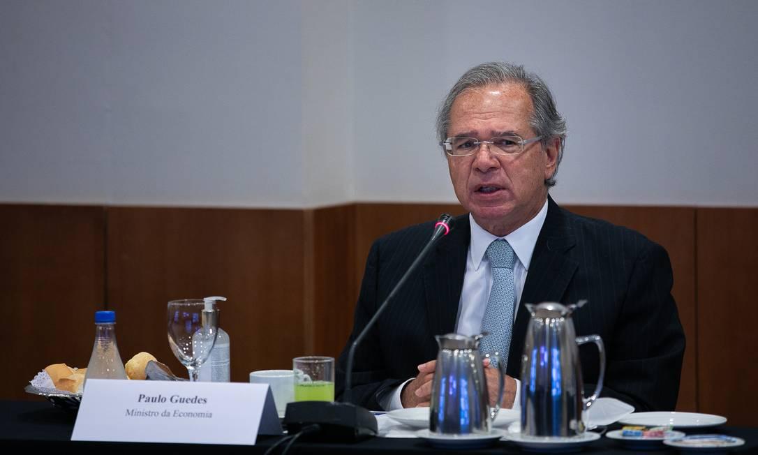 O ministro da Economia, Paulo Guedes Foto: Washington Costa / Ministério da Economia