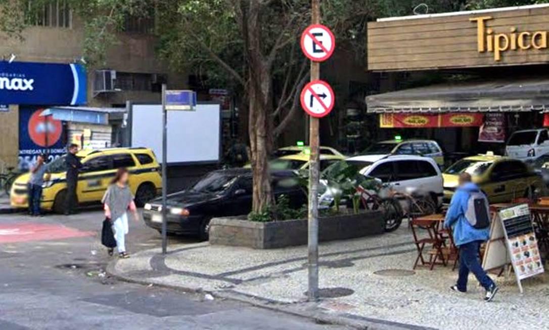 A esquina onde os tiros foram disparados Foto: Reprodução / Google Street View