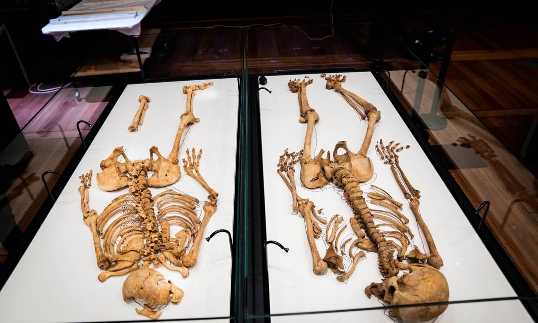 Esqueletos da era viking, encontrados na Inglaterra e na Dinamarca, eram de parentes, revelou mapeamento de DNA Foto: RITZAU SCANPIX / via REUTERS