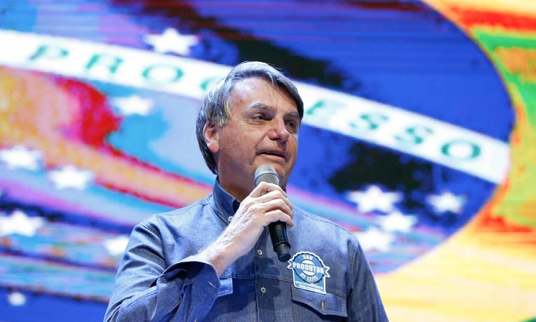 O presidente Jair Bolsonaro participa de culto em Anápolis Foto: Alan Santos/Presidência