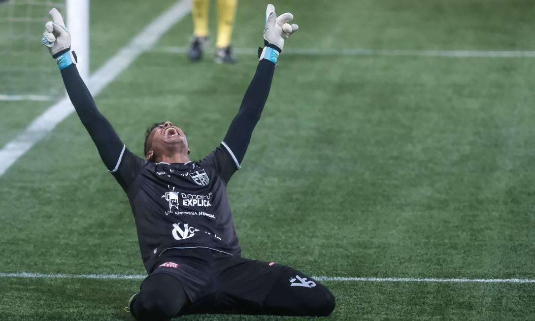 Diogo Silva foi o algoz do Palmeiras na Copa do Brasil Foto: Marcelo Zambrana/Agif