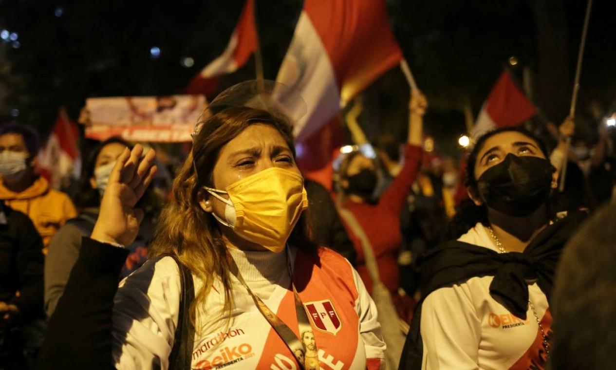 Atas eleitorais contabilizadas apontam antagem de mais de 70 mil votos para o sindicalista Pedro Castillo Foto: LIZ TASA / REUTERS