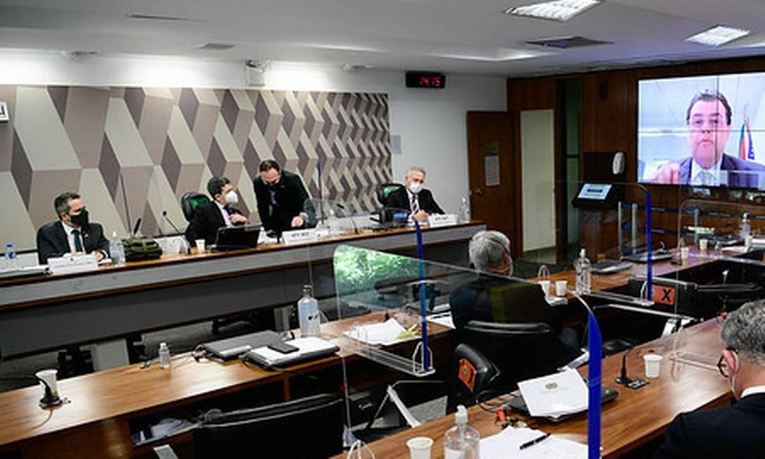 Sessão da CPI da Covid no Senado Foto: Pedro França / Pedro França/Agência Senado