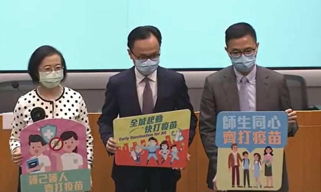 Anúncio foi feito pelo Governo de Hong Kong em entrevista coletiva nesta quinta-feira (10) Foto: Reprodução/Governo de Hong Kong