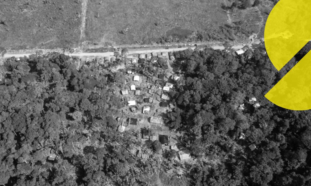 Assentamento da Flona Jacundá, Floresta Nacional de Jacundá em Rondônia, próximo a Porto Velho Foto: Brenno Carvalho/ Arte O Globo