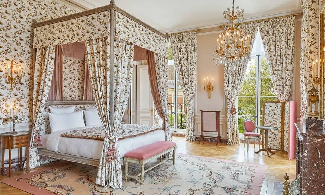 Uma das cinco suítes do hotel de luxo Le Grand Contrôle, que fica no complexo do Palácio de Versalhes, arredores de Paris Foto: Divulgação