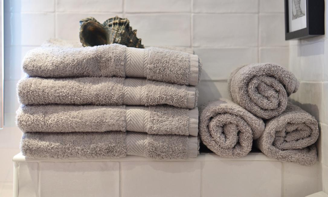 O ideal é que cada pessoa da casa tenha, pelo menos, três jogos de toalhas. Foto: Divulgação