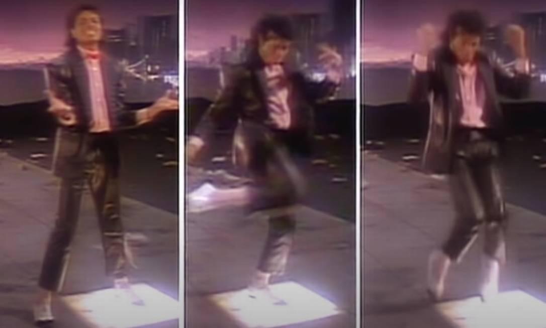 Michael Jackson dança no clipe de 'Billie Jean' Foto: Reprodução