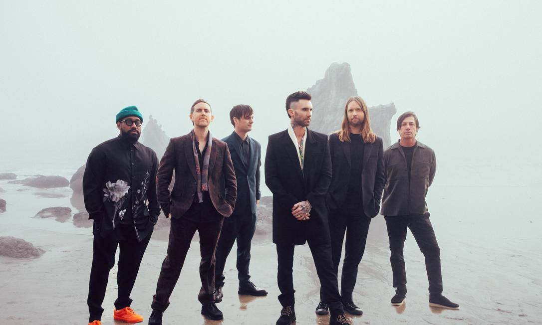O grupo americano Maroon 5 Foto: Divulgação