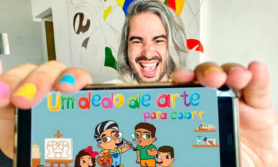 """Diego Moura apresenta o app """"Um dedo de arte para colorir"""" Foto: Divulgação"""