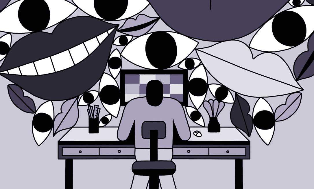 Quando o fechamento de escritórios impôs a distância física entre os colegas de trabalho, muitos esperavam que os incidentes de assédio diminuíssem. Essa ideia foi descartada rapidamente. Foto: Cristina Spanò/The New York Times