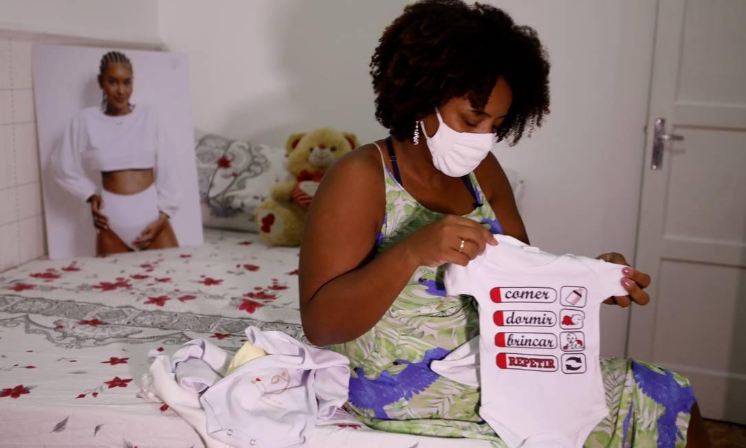 Jackeline de Oliveira Lopes, mãe de Kathlen Foto: Luiza Moraes / Agência O Globo