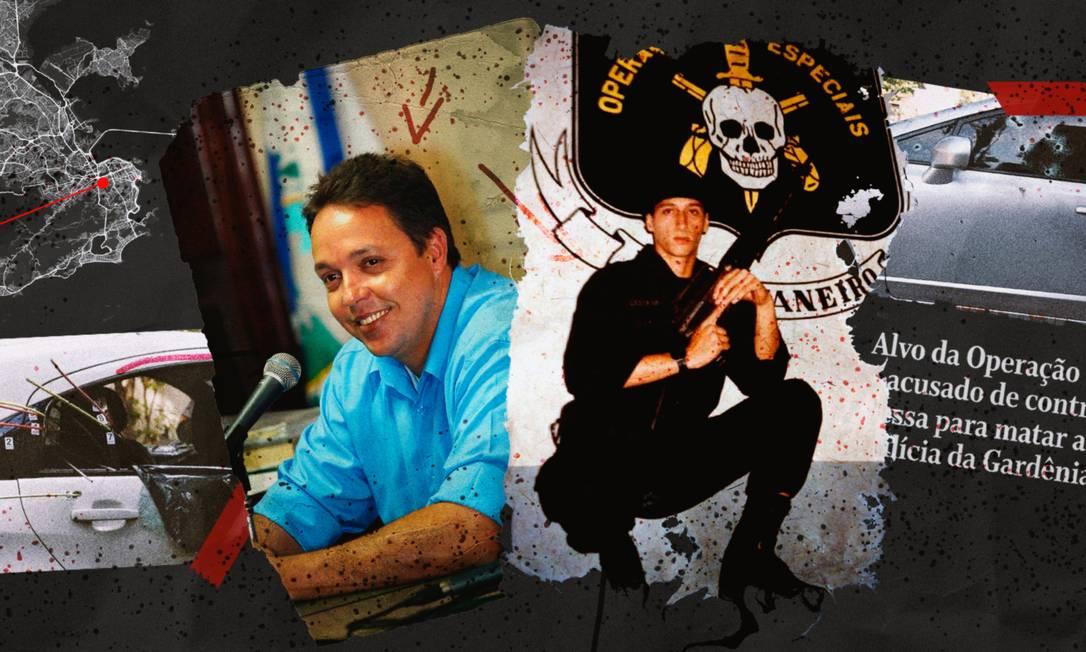 Ronie Lessa: para polícia, ele teria envolvimento em duas execuções Foto: Editoria de Arte