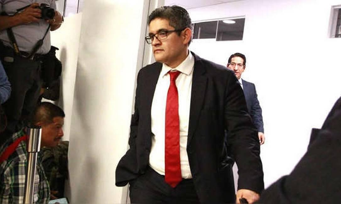 O procurador José Domingo Pérez, membro da força-especial Lava Jato peruana Foto: Reprodução