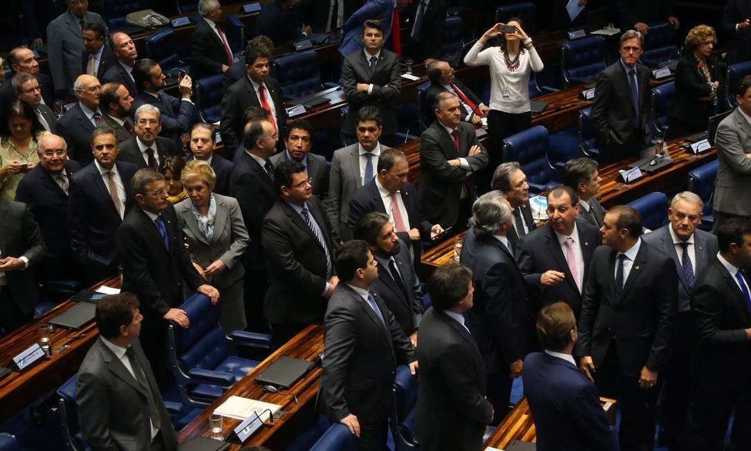 Senadores aprovam o projeto de lei do Clube-empresa Foto: Ailton de Freitas / Agência O GloBO